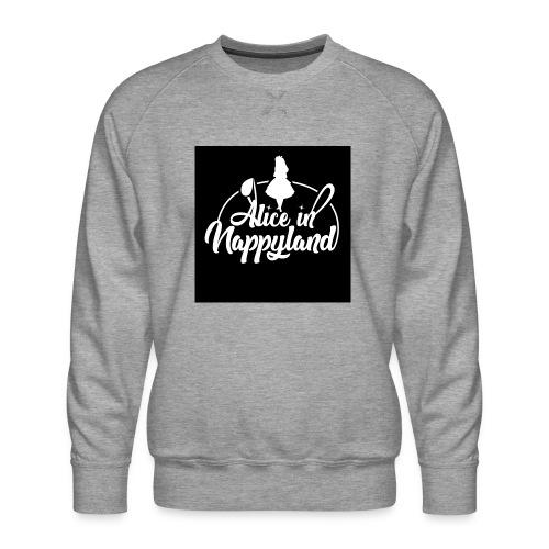 Alice in Nappyland TypographyWhite 1080 - Men's Premium Sweatshirt