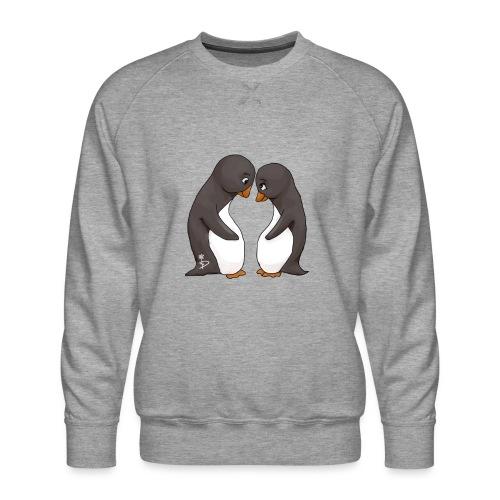 Twee verliefde pinguïns - Men's Premium Sweatshirt