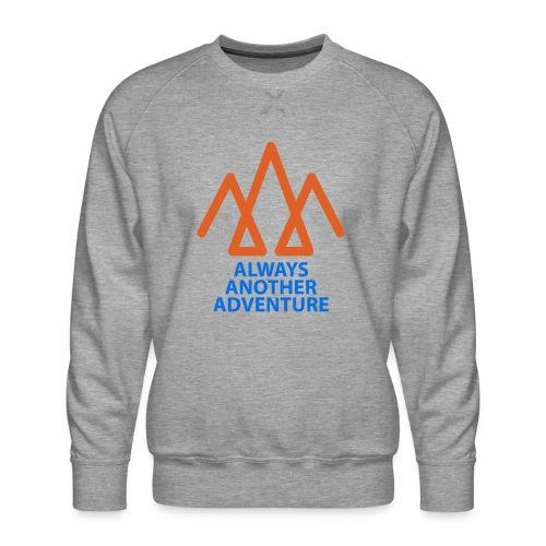 Orange logo, blue text - Men's Premium Sweatshirt