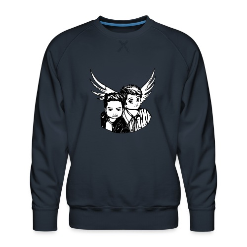 Destiel i sort/hvid - Herre premium sweatshirt