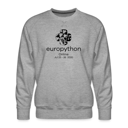 EuroPython 2020 - Vertical Black Logo - Men's Premium Sweatshirt