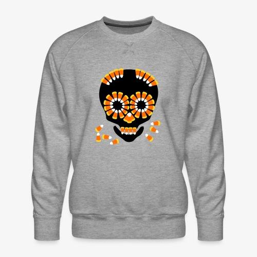 Skull Candy Corn HallOWeen by patjila - Men's Premium Sweatshirt