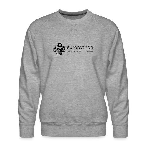 EuroPython 2020 - Black Logo - Men's Premium Sweatshirt