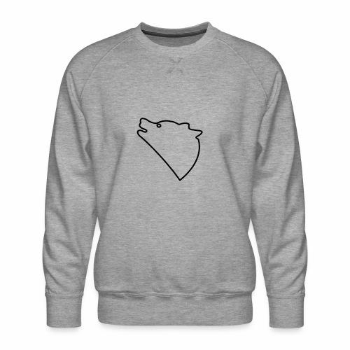 Wolf baul logo - Mannen premium sweater