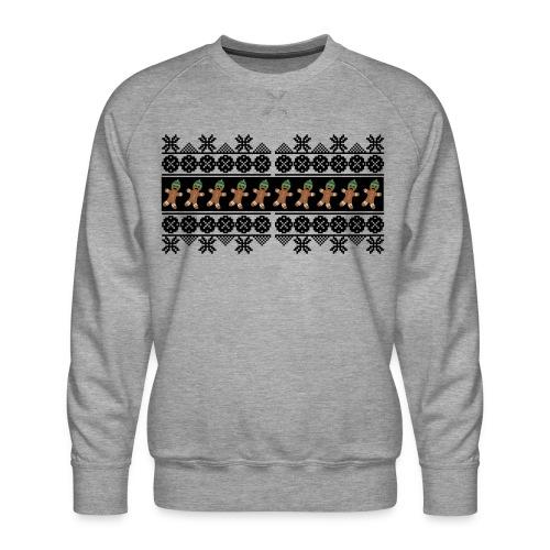 Lebkuchen Männchen für hässliche Weihnachten - Männer Premium Pullover