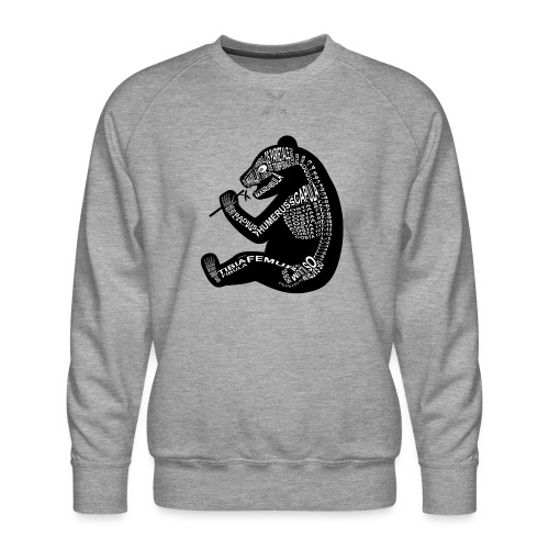 Panda skelet - Mannen premium sweater