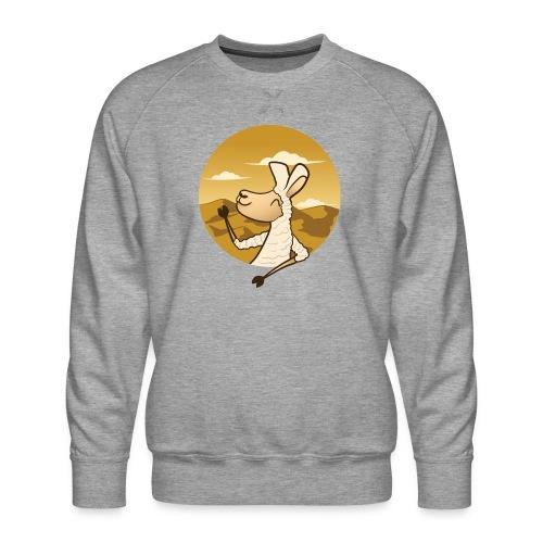 Waving Llama - Herre premium sweatshirt