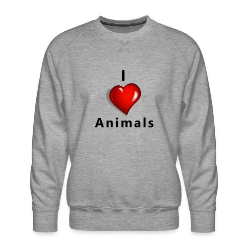 i love animals - Mannen premium sweater