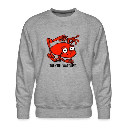 red frog - Felpa premium da uomo