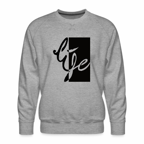 Life Logo 02 - Sweat ras-du-cou Premium Homme