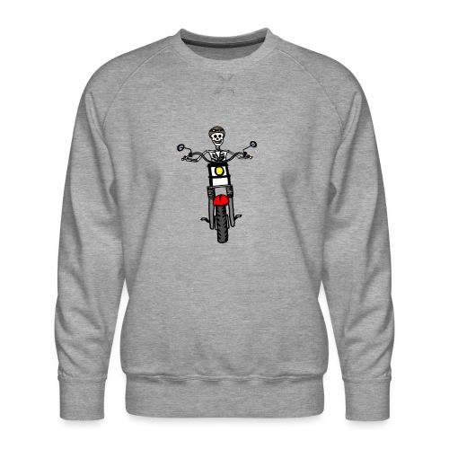 calavera moto - Sudadera premium para hombre