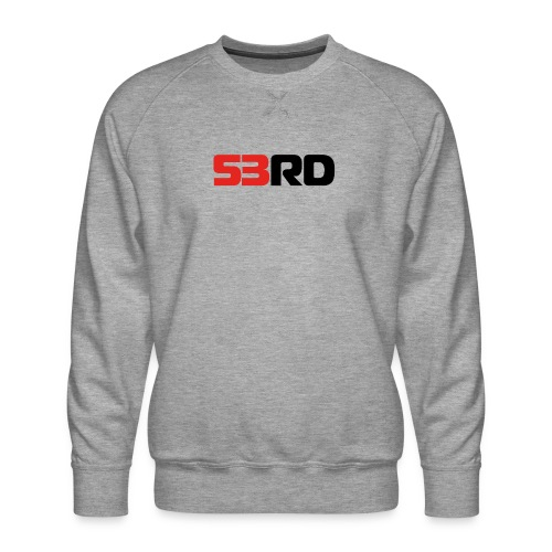 53RD Logo lang (schwarz-rot) - Männer Premium Pullover