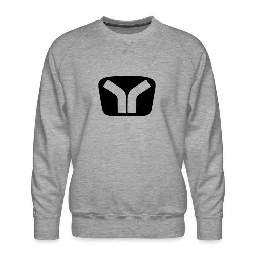 Yugo Logo Black-Transparent Design - Men's Premium Sweatshirt