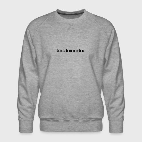 Backwards - Mannen premium sweater