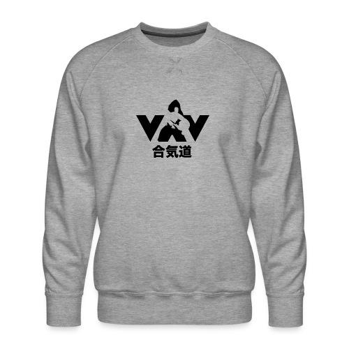 aikido zwart - Mannen premium sweater