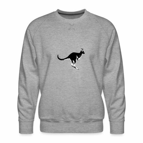 Känguru in schwarz weiss - Männer Premium Pullover