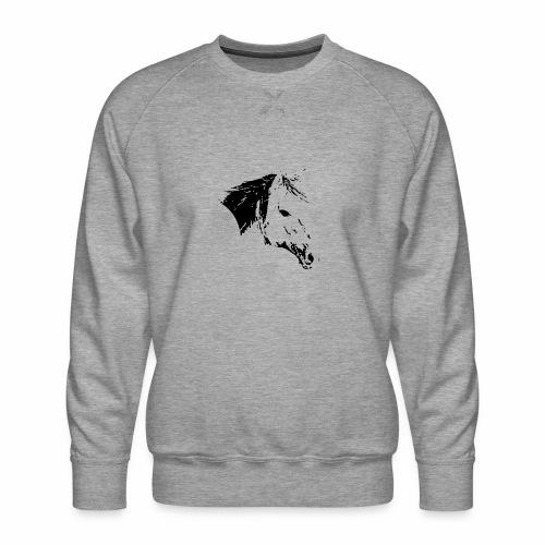 Pferd als schwarze Silhuette - Männer Premium Pullover