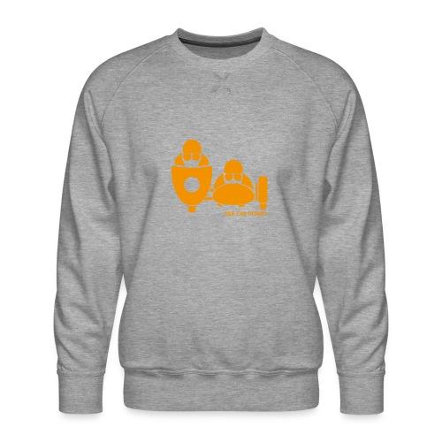 BASSET LOGO orange - Sweat ras-du-cou Premium Homme