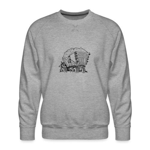 0956 trekker kar ZAND - Mannen premium sweater