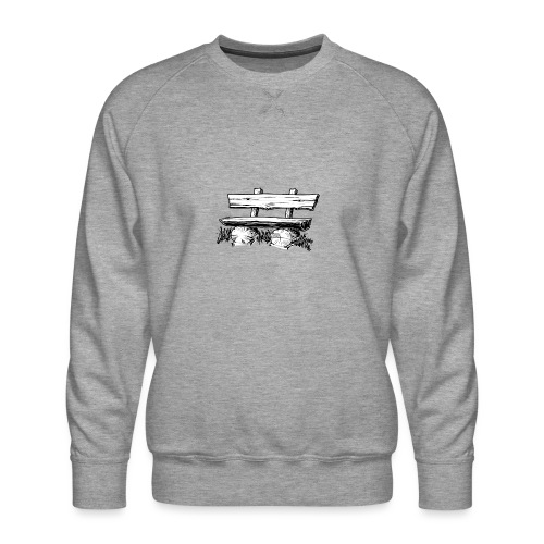 995 Bank hout - Mannen premium sweater