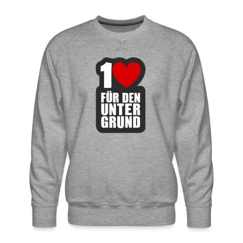 1 Herz für den Untergrund - Logo grau - Männer Premium Pullover