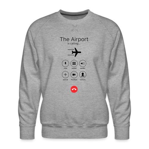 Lentokenttä soittaa - musta - Miesten premium-collegepaita