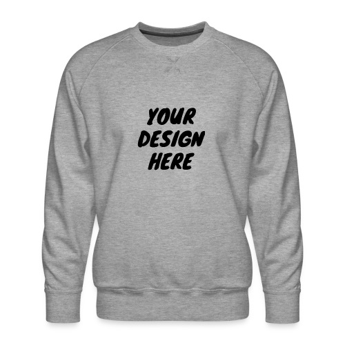print file front 9 - Men's Premium Sweatshirt