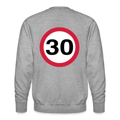 30mph Speed Limit Vector - choose design colours - Men's Premium Sweatshirt