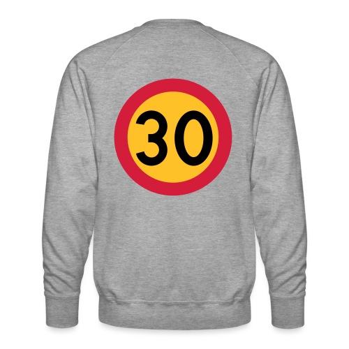 30 kph Road Sign Vector Design - Men's Premium Sweatshirt