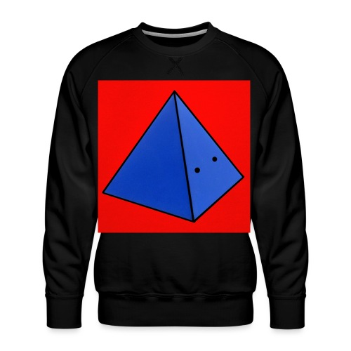 Fond rouge piramide - Sweat ras-du-cou Premium Homme