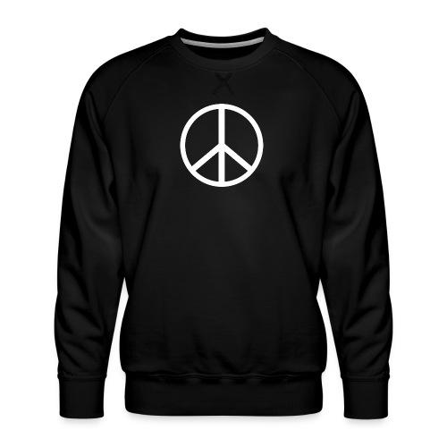 Símbolo de la paz blanco - Sudadera premium para hombre
