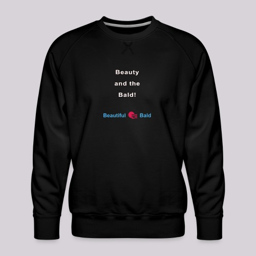 Beauty and the bald-w - Mannen premium sweater
