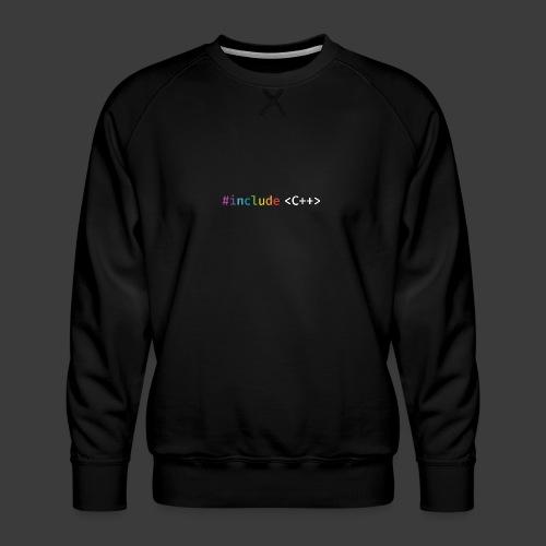 rainbow for dark background - Men's Premium Sweatshirt