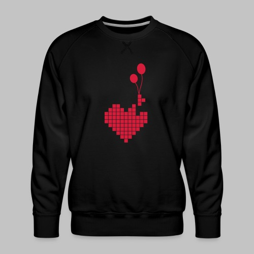 heart and balloons - Men's Premium Sweatshirt