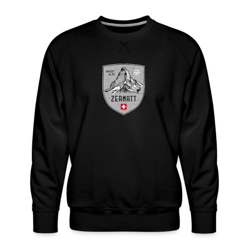 Zermatt Schweiz Wappen - Men's Premium Sweatshirt