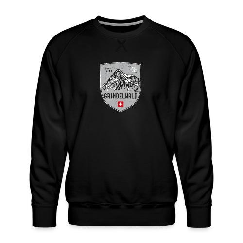 Grindelwald Switzerland coat of arms - Men's Premium Sweatshirt
