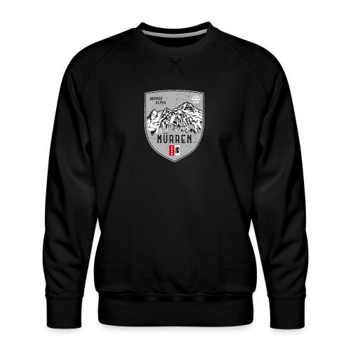 Eiger, Mönch und Jungfrau mit Mürren Flagge - Men's Premium Sweatshirt
