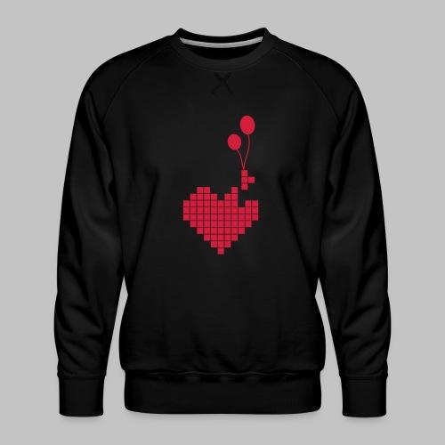 heart and balloons - Men's Premium Sweatshirt