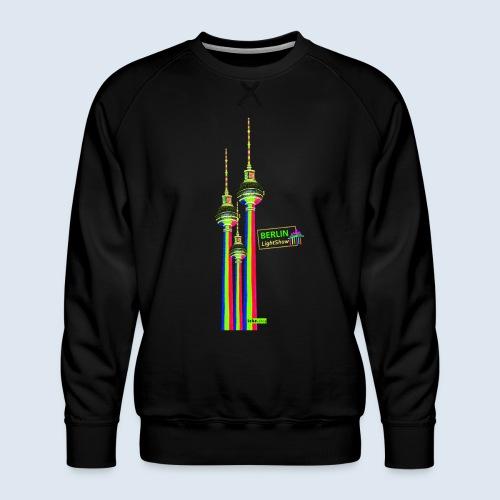 """Berliner Original """"Fernsehturm III"""" PopArt Design - Männer Premium Pullover"""