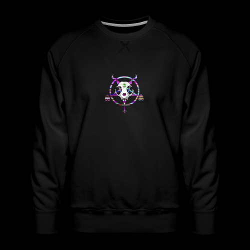 glitch cat - Sweat ras-du-cou Premium Homme