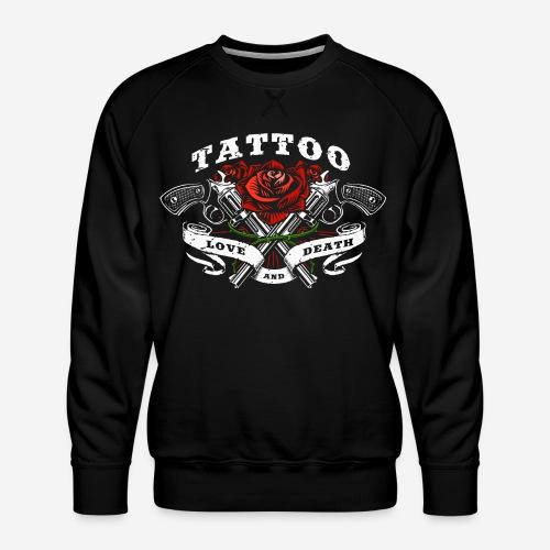 tattoo love roses rose pistols guns - Männer Premium Pullover