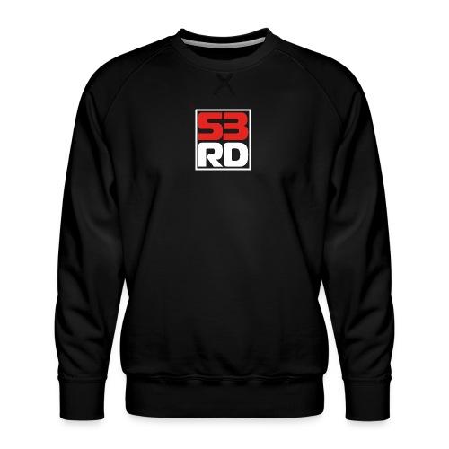 53RD Logo kompakt umrandet (weiss-rot) - Männer Premium Pullover