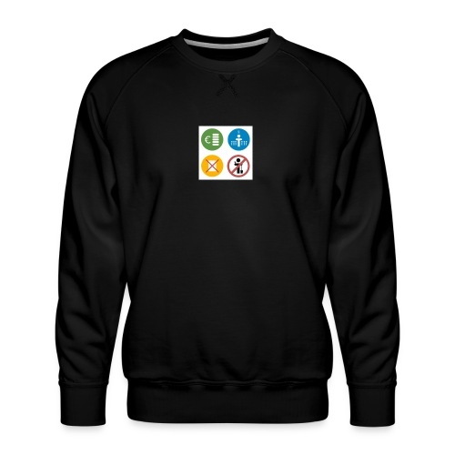 4kriteria obi vierkant - Mannen premium sweater