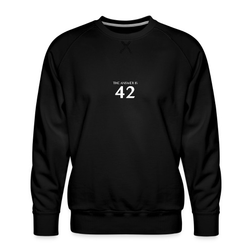 The Answer is 42 White - Men's Premium Sweatshirt