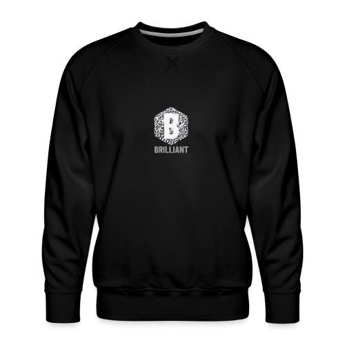 B brilliant grey - Mannen premium sweater