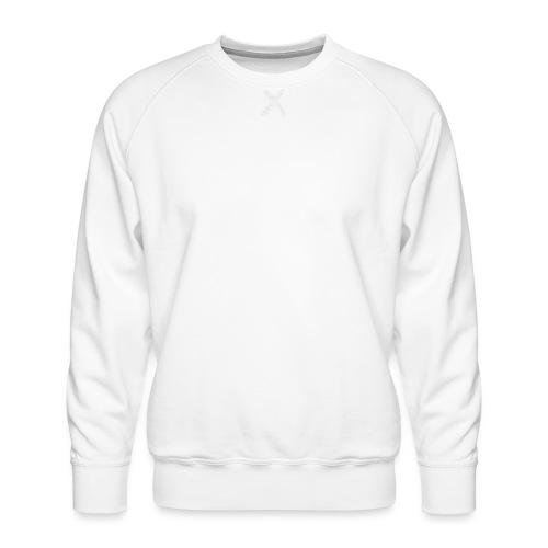 Bibs Logo Blanc - Sweat ras-du-cou Premium Homme