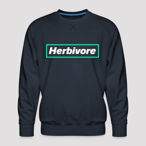 Herbivore Logo White - Felpa premium da uomo