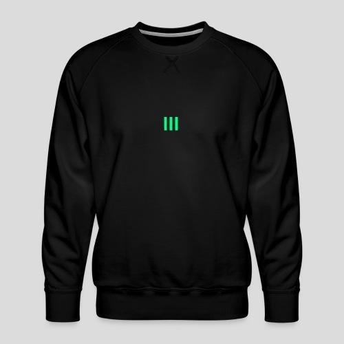 III Logo - Men's Premium Sweatshirt