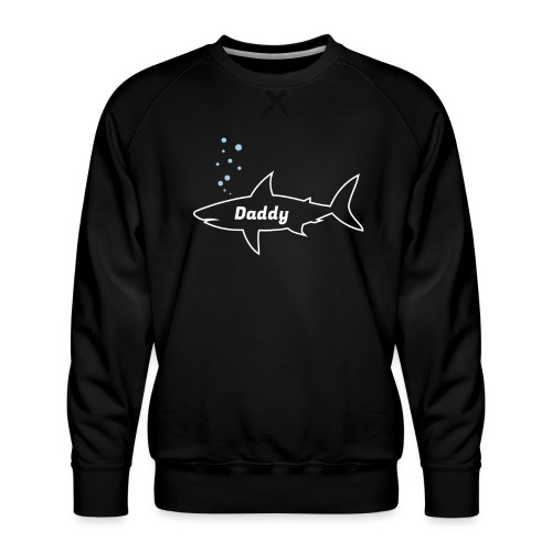 Daddy shark - matching outfit fathersday gift - Männer Premium Pullover
