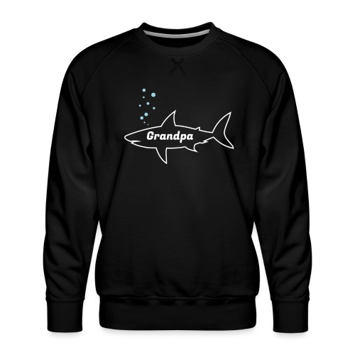 Grandpa shark - Fathers day gift - matching outfit - Männer Premium Pullover